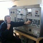 John Hudson at the Marconi Ships Main Console