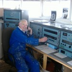 Stan at the Kelvin Hughes ships Radio Station