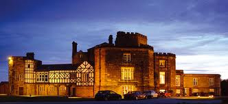 Leasowe Castle Hotel by night.