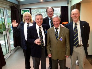 AGM 2013.  The Irish boys are here.  Back row:  l to r:  Bruce Graham and Vice Chairman Colman Shaughnessy.  Front row:  l to r:  Joe Duffy, Peter Gavin and ROARS Chairman Tom Frawley.  I questioned Joe's right to be there with his Scots accent but as he is of Irish stock they accepted him as a member of the Hibernian Connection.